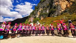 Mountain-worshiping held as scheduled in Niru village