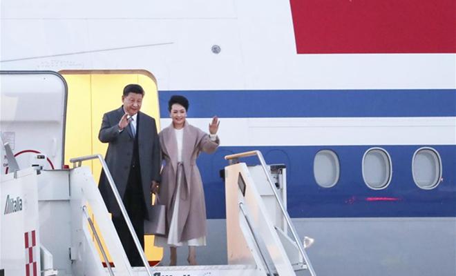 President Xi begins European tour in Italy