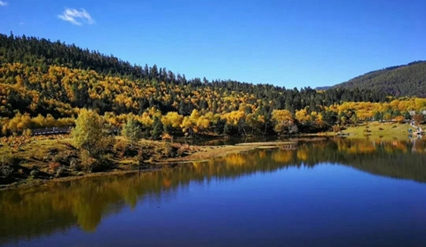 Beautiful scenery of Pudacuo National Park in Shangri-La