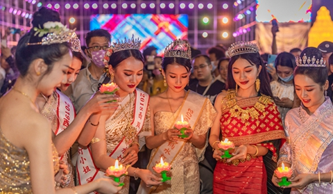 Pageant held in south Yunnan to mark Loy Krathong